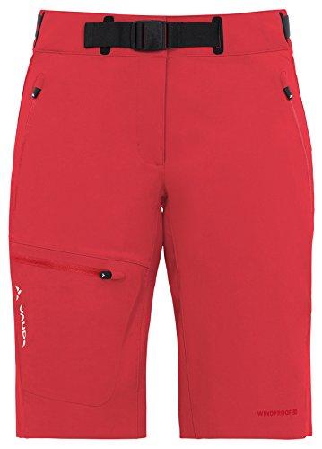 VAUDE Women's badile shorts - Pantalones de acampada y senderismo para mujer Rojo