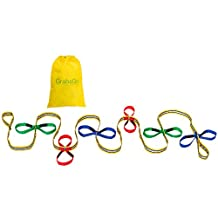 Children's Walking Rope, Grab & Go (12 Child). Premium Quality, Teacher Designed. Extra Safety Feature on Handles. Hi Viz Detailing. Carry Bag included