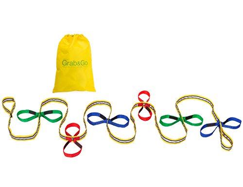 Childrens Walking Rope (12 Child). Premium Quality. Teacher Designed. Extra Safety Feature on Handles. High Viz Detailing.