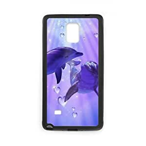 Dolphin Samsung Galaxy Note 4 Cell Phone Case Black WON6189218968549