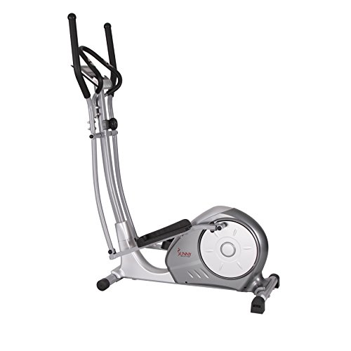 Magnetic Elliptical Trainer with Adjustable Resistance, Hand Pulse Sensors by Sunny Health & Fitness – SF-E3608