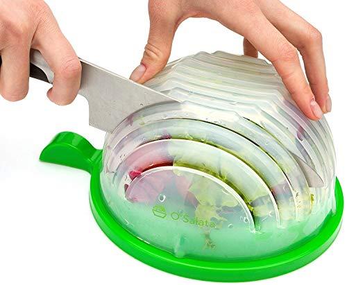 THE ORIGINAL Salad cutter bowl - Best Salad maker. Vegetable chopper, Cutter for Lettuce or Salad chopper for Salad in 60 Seconds by O`Salata