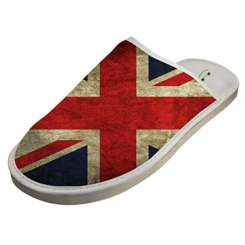 Britain Indoor Flag Non Slippers White Washable Cotton Foam Slip OpYrOxq