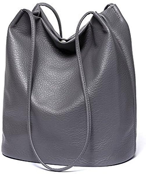fa403b8844a35 Damen PU Leder Shopper modern gross Capacity Schultertasche Handtasche