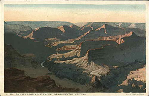 - Sunset From Mojave Point Grand Canyon National Park, Arizona Original Vintage Postcard