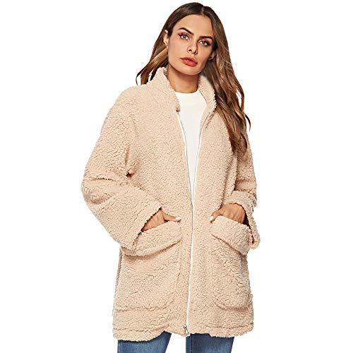 Long Sleeve Ladies Warm Faux Fur Coat Winter Windbreaker Parka Outerwear Women