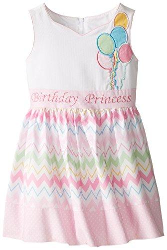 Girl Cupcake Dress Birthday (Bonnie Jean Little Girls' Birthday Dress, Pink, 6X)