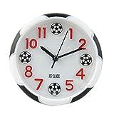 Kennedy Cute Mini Non-ticking Bedside /Table Analog Alarm Clock With Nightlight Soccer Shape Design Clock