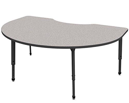 Marco Group 38-2268-77-BLK Apex Series Kidney Adjustable Table, 48