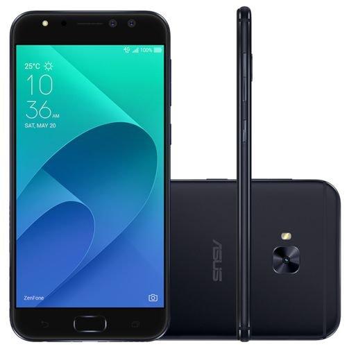 Smartphone Asus ZenFone 4 Selfie Pro 64GB Preto - Dual Chip 4G Câm. 16MP + Selfie 12MP e 5MP