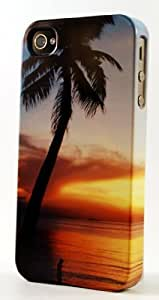 LJF phone case Tropical Paradise At Dusk Dimensional Case Fits iphone 4/4s