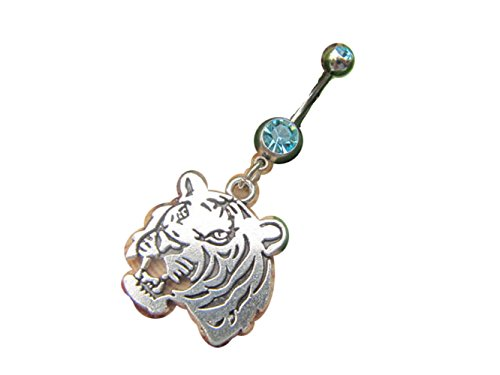 Tiger Belly Button Ring, Belly Jewelry, belly button ring (Tiger Belly Button Rings compare prices)