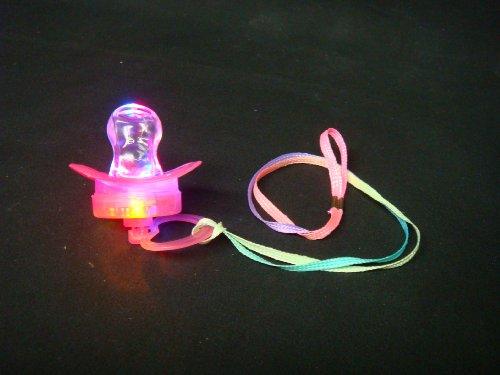 Flashing Panda LED Flashing Pacifier Binkie Raver Pendant Necklace ()