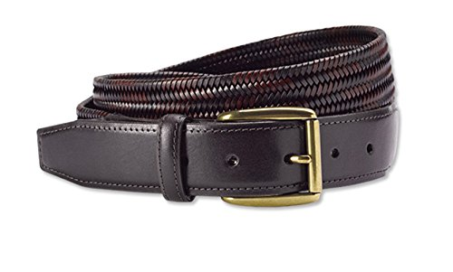 [Orvis Men's Braided Leather Stretch Belt, 46] (Orvis Braided Belt)