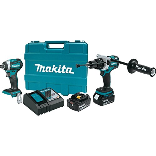 Makita XT268T 5.0Ah 18V LXT Lithium-Ion Brushless Cordless Combo Kit (2 Piece)