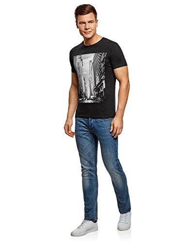 Cotone 2910p Stampa Ultra Oodji Uomo Con T In shirt Nero XFXxAqzB