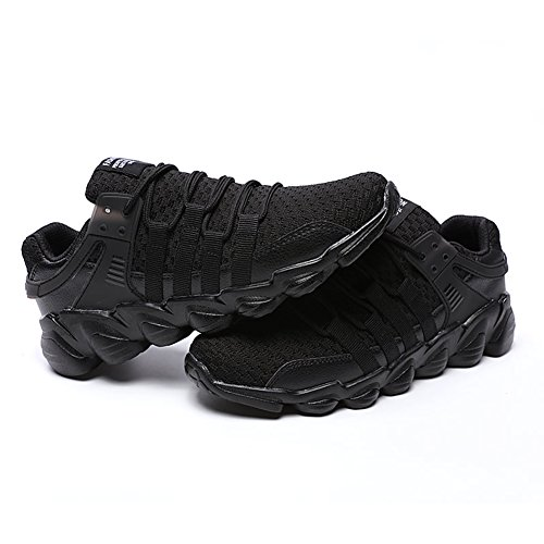Blanc Course Fexkean Noir Sneakers de 39 Noir Chaussure 47 Baskets sport mode Running Homme IHI1z