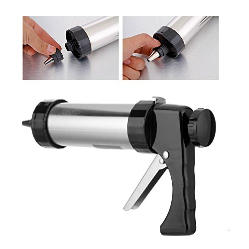 YIYATOO Stainless Steel Biscuit Cookie Press Gun,13 Stainless Steel Cookie Discs and 8 Icing Tips by Yiyatoo (Image #2)
