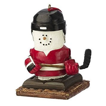 S'mores Hockey Player Ornament -