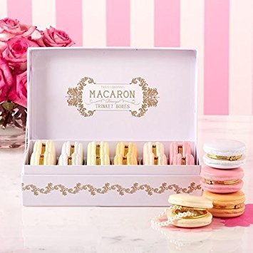 - Set of 12 Macaron Limoge Boxes Includes 6 Colors by Two's Comapny