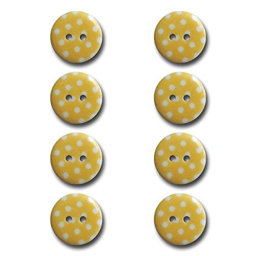 (Maya Road BUT2942 Polka Dot Buttons, Sunshine Yellow)