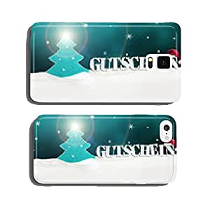 Christmas voucher Gutschein tree snow turquoise cell phone cover case Samsung S6