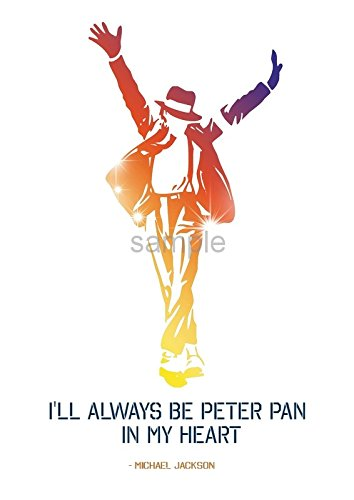 michael jackson quote peter pan a4 poster print