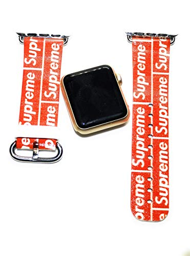 (Street Fashion Inspired Print Smart Watch Apple comparable Series 4 3 2 Replacement Band 42/44mm)