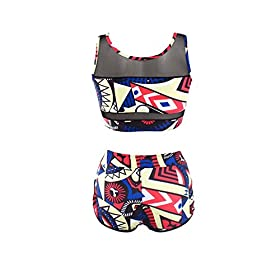 - 41cgjXRwphL - PiePieBuy Womens Plus Size African Print Inspired Two Piece Bikini Bathing Suit from S-4XL