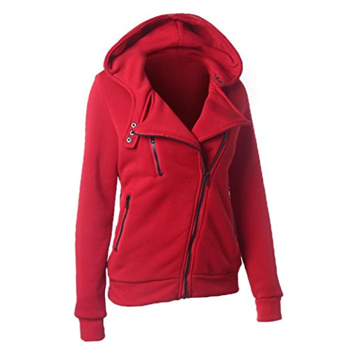 Warm Sudadera Mujeres Rojo Abrigo De Familizo Winter Capucha Con Casual t7S7ZEx