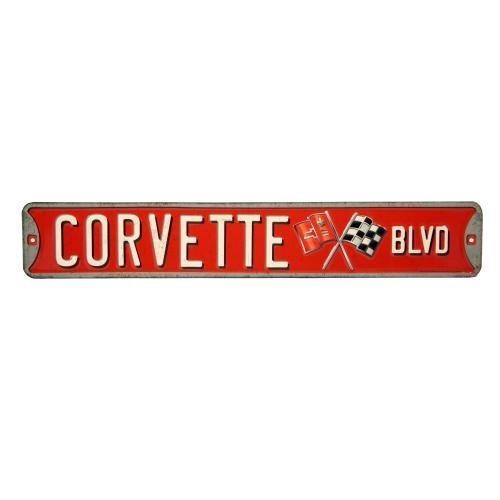 Open Road Brands Corvette Boulevard Tin Street Sign