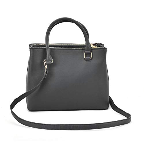 YOUNG Square SALLY Grey Elegant Women Simple Large with Shoulder Leather Handbag Fashion Tote Women Strap Style dBnqBC