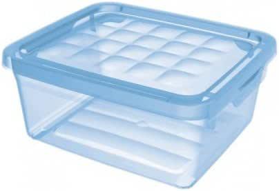 Curver - Caja para Ropa y Textil 10L. - Con Tapa - Color Cristal: Amazon.es: Hogar