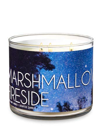 Bath and Body Works 3-Wick Scented Candle Marshmallow Fireside 14.5 Ounce