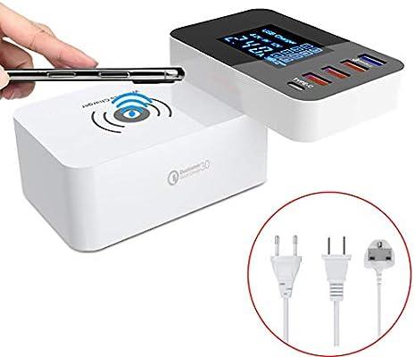 ZIHENGUO QI Cargador inalámbrico Carga rápida 3.0 USB Inteligente ...