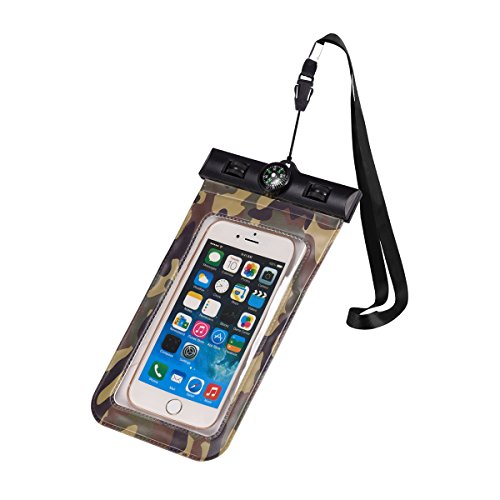 - Any Warphone Floatable Waterproof Phone Case, Waterproof Phone Pouch Dry Bag with Armband and Compass for iPhone X, 8 Plus, 8, 7 Plus, 7, 6s, 6, Construction IPX8 Certified (Green)