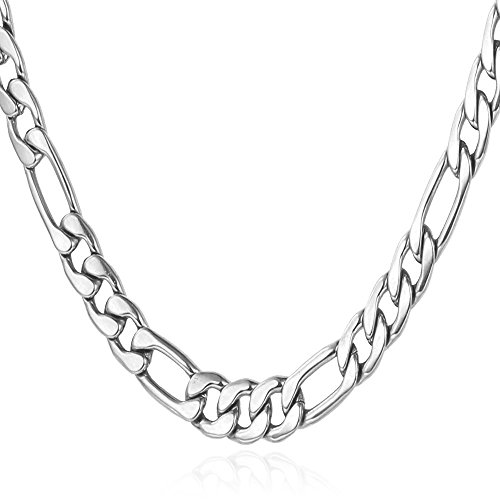 mens-stainless-steel-5mm-figaro-chain-necklace18-30