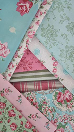 Dream Cottage Verna Mosquera FreeSpirit Fabrics Pink Cotton Quilting Shabby Chic ~ 10 Fat Quarters ~ 2.5 Yards Total