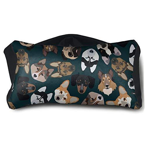Portable Eye Pillow Sleep Eye Mask Pillow Pedigree Dogs Pillow Masks for Home Office Outdoor Travel 15 X25 cm ()