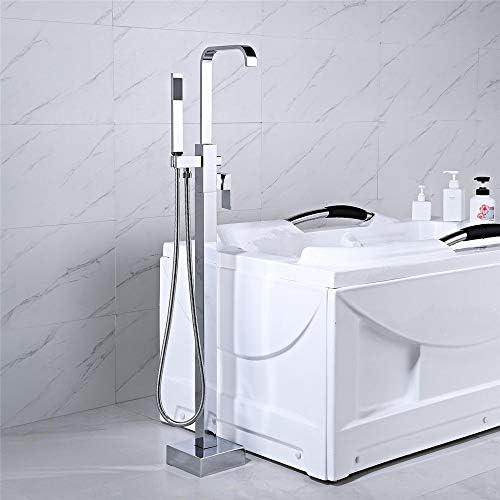 浴槽の蛇口 ハンドヘルドシャワーヘッド浴室のクロムとバスタブ床立ち浴槽の蛇口 キッチンバーのトイレで使用できます (Color : Silver c, Size : Free size)