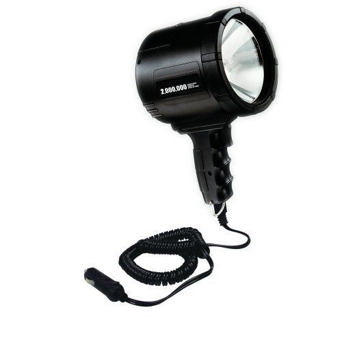 Lind Equipment QH-2002 Corded Spotlight, 2 Million Candlepower, 10ft Coiled Cord, Cigarette Lighter Plug