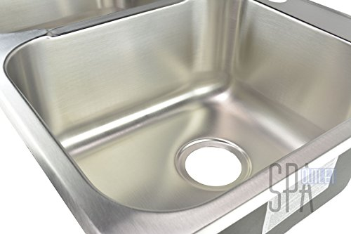Blue Ocean 31 1/4'' KSS918 18 Gauge Stainless Steel Top Mount Kitchen Sink with FREE Strainers by Blue Ocean (Image #4)