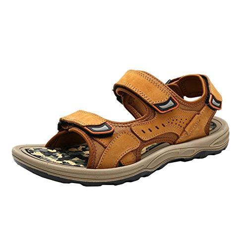 H&W Mens Triple Outdoor Velcro Strap Outdoor Triple Hiking Sandals Ankle Strap Tan B071NKBKKN Shoes 507403