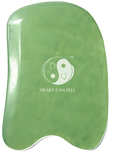 BEST Jade Gua Sha Scraping Massage Tool - High Quality Hand Made Jade Guasha Board - GREAT Tools for...