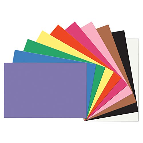 SunWorks PAC6507BN Construction Paper, 10 Assorted Colors, 12