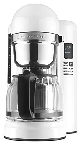 KitchenAid KCM1204WH 12-Cup Coffee Maker with One Touch Brewing – White