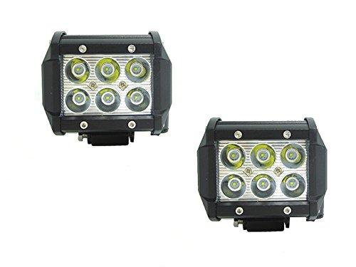 2 x FARO LAMPADA SUPPLEMENTARE PROFONDITA AUTO FUORISTRADA 12V 6 LED 18W 6000K IP68 (2) Rollinger