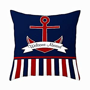 41cgn76sCDL._SS300_ 100+ Nautical Pillows & Nautical Pillow Covers