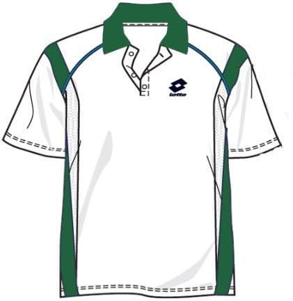 Lotto Race PI - Polo para hombre, color blanco y verde blanco y ...