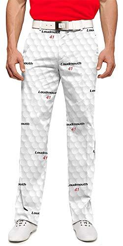 Loudmouth Golf Big Golf Ball StretchTech Men's Pant 34x32